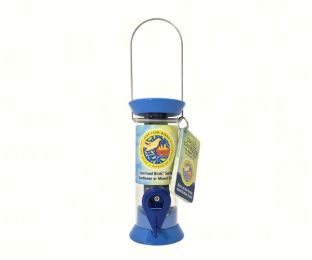 8 in. Just Feed Birds Blue Songbird Feeder