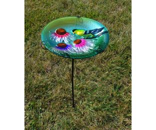 Goldfinch Staked Birdbath