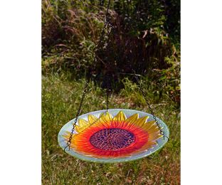 Sunflower Hanging Birdbath
