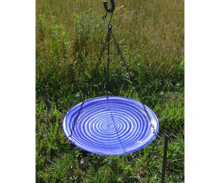 Purple Swirl Hanging Birdbath