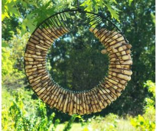 Whole Peanut Wreath Ring Black
