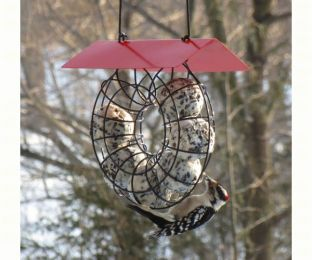 Suet & Seed Ball Feeder Red Roof