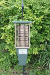 Double Suet Feeder Hunter Green Driftwood