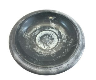 Cool Grey Gloss Bird Bowl with Gloss Rim